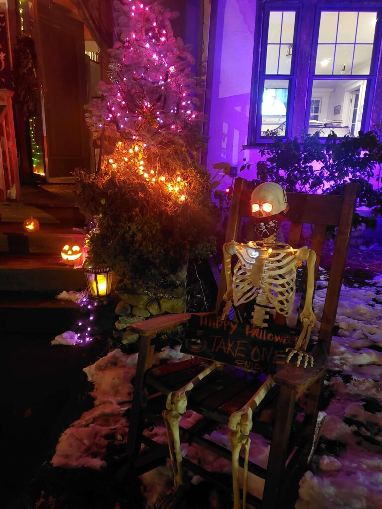 Mr Bones Trick or Treat Halloween decor
