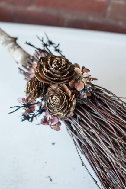 cedar rose pinecones on witch broom